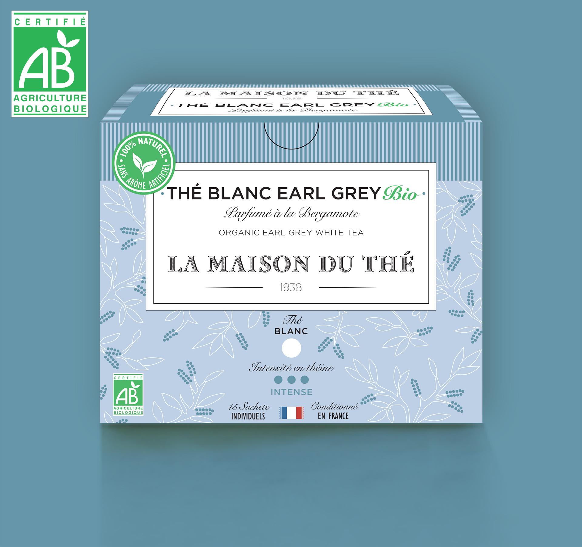 Thé blanc Earl Grey Bio Parfumé à la Bergamote