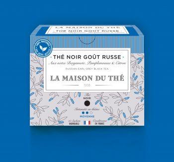 Thé noir Goût Russe aux notes de Bergamote, Pamplemousse et Citron