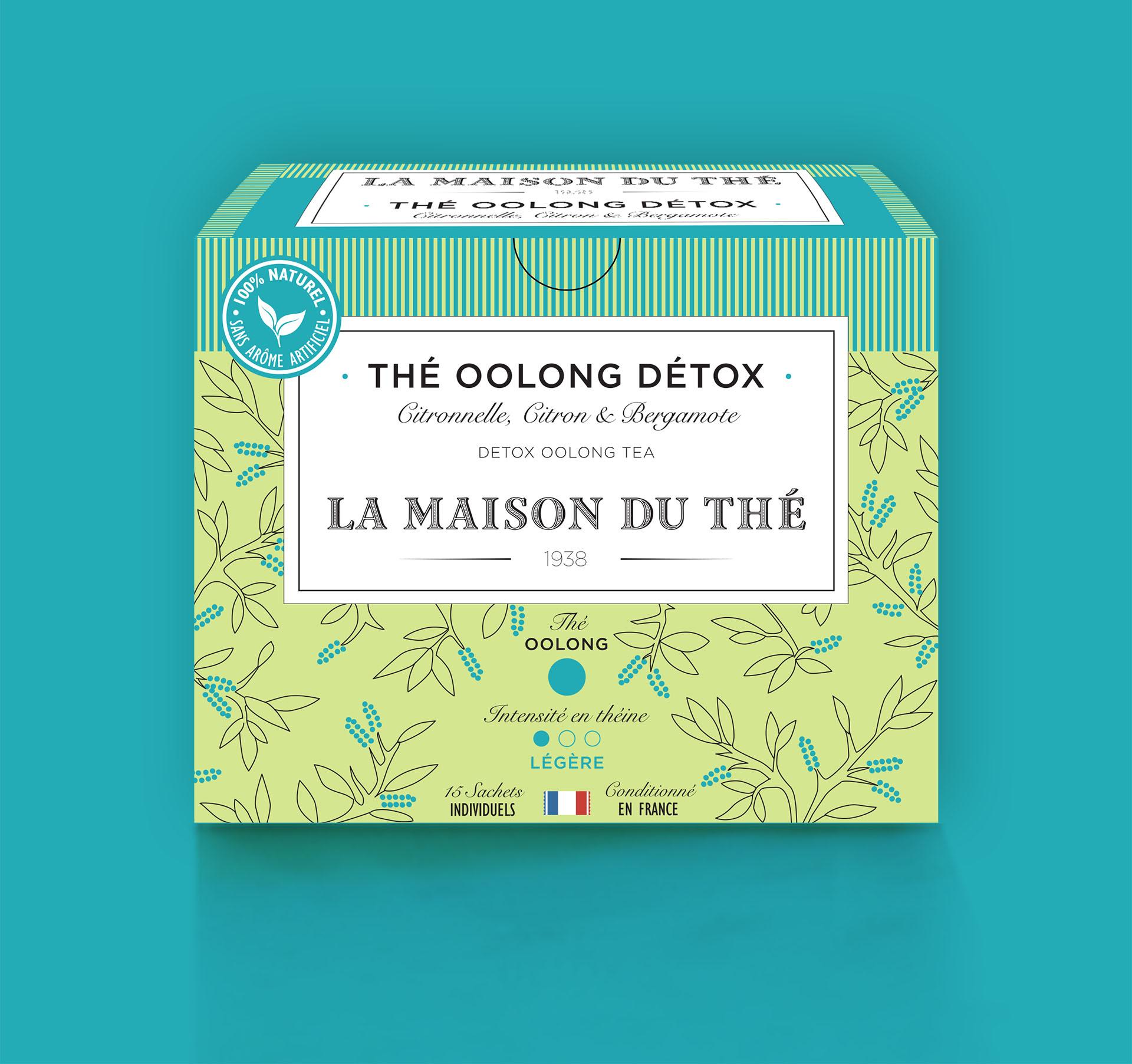 Thé Oolong Détox Citronnelle, Citron et Bergamote