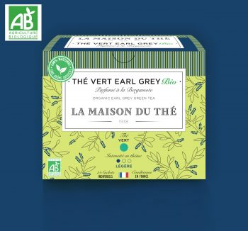 Thé vert Earl Grey BIO BIO Parfumé à la Bergamote