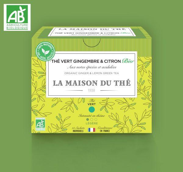 Thé vert Gingembre & Citron Bio aux notes épicées et acidulées