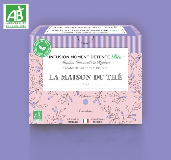 Infusion Moment Detente BIO Menthe, Citronelle et Réglisse
