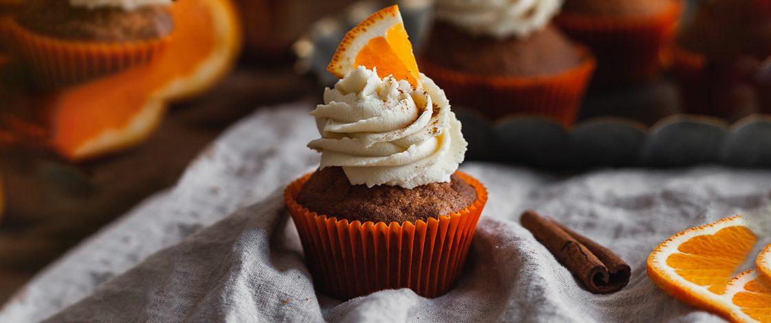 Cupcakes au thé vert orange & cannelle
